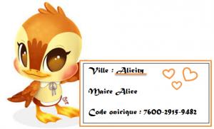 Carte De Visite Alice Acnl
